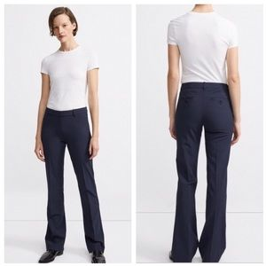 🌿 Theory   Emery Broadway Wide Navy Trousers
